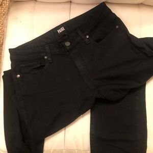 Paige black jean's, like new